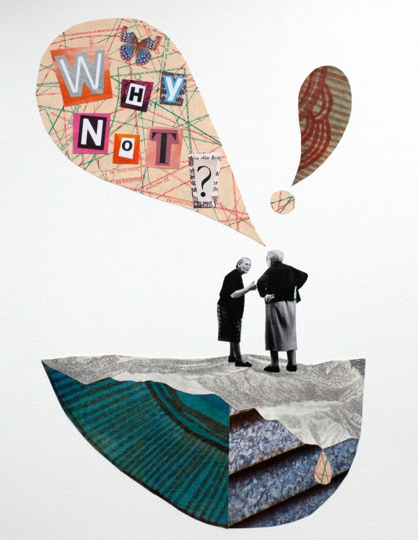 Papiercollage Why Not?